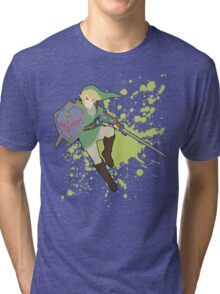 Link - Super Smash Bros Tri-blend T-Shirt