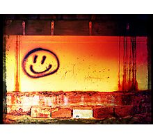 creepy smilie Photographic Print