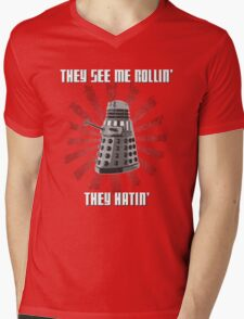 Doctor Who - DALEK - Exterminating Dirty Mens V-Neck T-Shirt