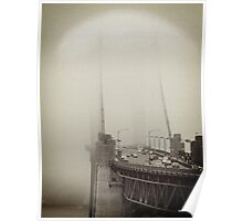 Foggy Golden Gate Poster