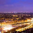River of Light - Parisian Seine at Night by Mark Tisdale