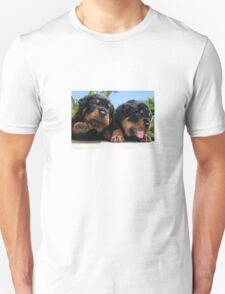 Two Rottweiler Puppies, High Five Unisex T-Shirt