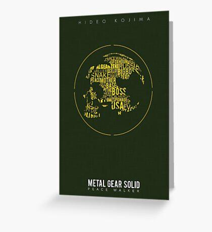 Metal Gear Solid: Peace Walker Greeting Card