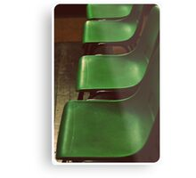 Green Chairs Metal Print