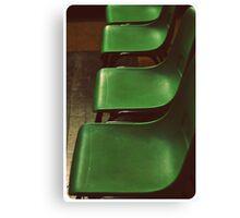 Green Chairs Canvas Print