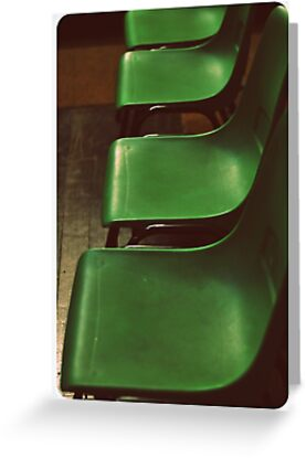 Green Chairs by Melissa Drummond