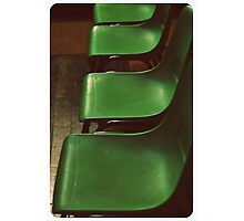 Green Chairs Photographic Print