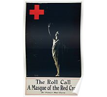 The roll call a masque of the Red Cross by Percy MacKaye Poster