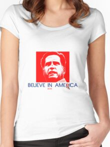 Politics: Mitt Romney Women's Fitted Scoop T-Shirt