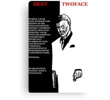 two-face scarface poster Canvas Print