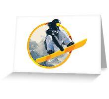 Snow Board Jump Greeting Card