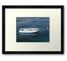 Lonely sailor Framed Print