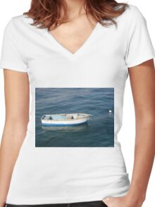 Lonely sailor Women's Fitted V-Neck T-Shirt