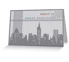 Spider-man New York Skyline Quote Greeting Card