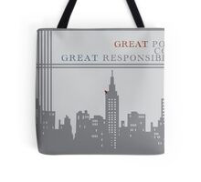 Spider-man New York Skyline Quote Tote Bag