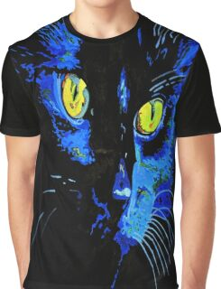 Marley The Cat Portrait With Striking Yellow Eyes Graphic T-Shirt