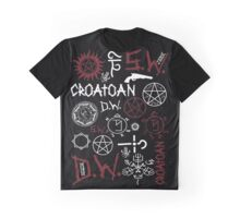 SPN Angel and Demon Sigils (white/red version) Graphic T-Shirt