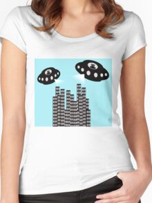 Alien invasion Women's Fitted Scoop T-Shirt