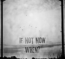 If not now, when? (Black & White) by Sybille Sterk