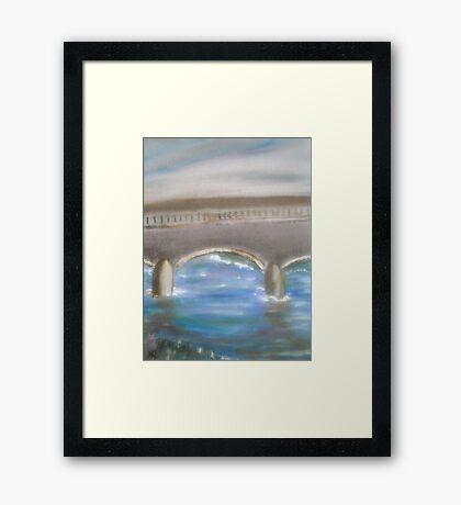 Pavia Covered Bridge - En Plein Air Painting Framed Print