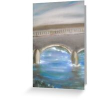 Pavia Covered Bridge - En Plein Air Painting Greeting Card