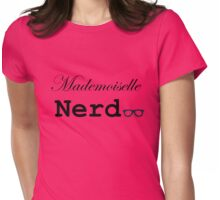mademoiselle nerd Womens Fitted T-Shirt