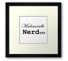 mademoiselle nerd Framed Print