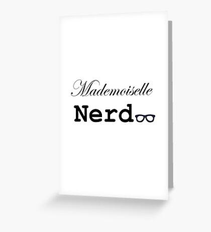 mademoiselle nerd Greeting Card