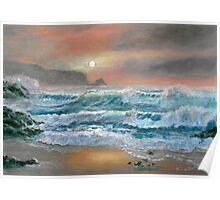 Sunset Seascape Poster