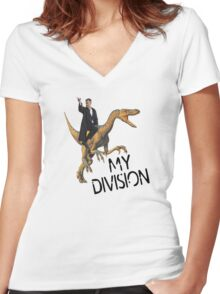 lestrade's division Women's Fitted V-Neck T-Shirt