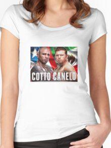 Miguel Cotto vs Canelo Alvarez Boxing Women's Fitted Scoop T-Shirt