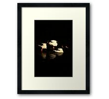 Black and White Geese Framed Print