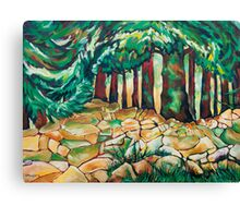 Tree and Wall Canvas Print