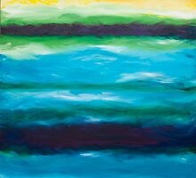 Strata Series, Fate Line, Blue and Yellow by Gillian Sinclair