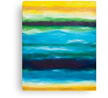 Strata Series, Fate Line, Blue and Yellow Canvas Print