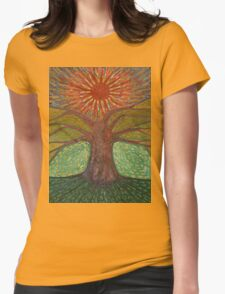 Sun And Tree Womens Fitted T-Shirt