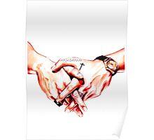 Watercolor Harry hands  Poster