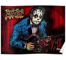 Rock n Roll Maniac Rockabilly Poster