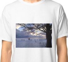 """Snow Stopped Play"" Sewerby Cricket Club - Bridlington East Yorkshire Classic T-Shirt"