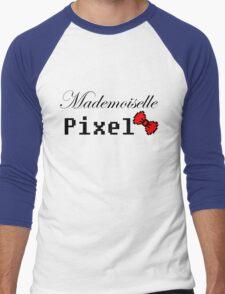 mademoiselle pixel Men's Baseball ¾ T-Shirt