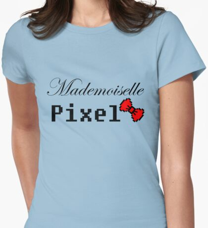 mademoiselle pixel Womens Fitted T-Shirt