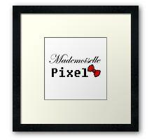 mademoiselle pixel Framed Print