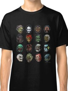 Horror Movie Monster Masks (color) Classic T-Shirt