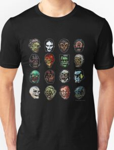 Horror Movie Monster Masks (color) T-Shirt