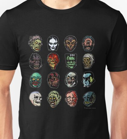 Horror Movie Monster Masks (color) Unisex T-Shirt