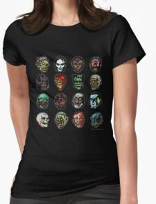 Horror Movie Monster Masks (color) Womens Fitted T-Shirt