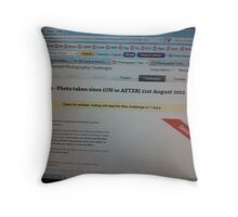 Challenge Avatar (but also How I Manage Moderation!) - Taken 4th September 2012. Throw Pillow