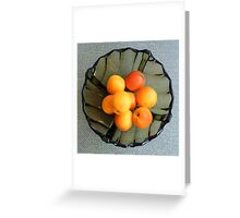 Apricots in a glass dish Greeting Card