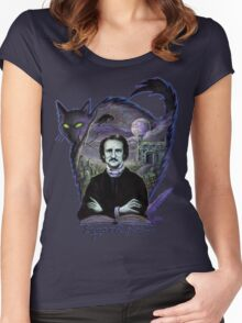 Edgar Allan Poe Gothic Women's Fitted Scoop T-Shirt