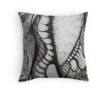 Escape in Black & White Throw Pillow